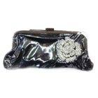 CLUTCH BAG WITH DIAMANTE FLOWER