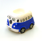 VW CAMPER VAN CERAMIC EGG CUP BLUE