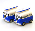 VW CAMPER VAN CERAMIC CRUET SET BLUE