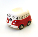 VW CAMPER VAN CERAMIC EGG CUP RED