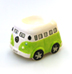 VW CAMPER VAN CERAMIC EGG CUP GREEN
